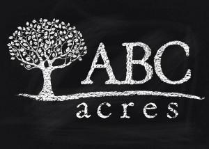 ABC Acres Logo Blackboard